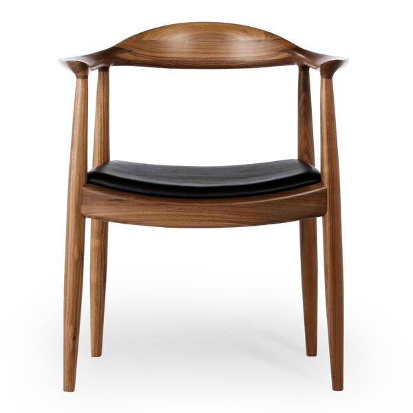 Gravitt Genuine Leather Upholstered Dining Chair by George Oliver