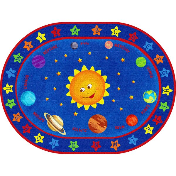 Out of This World Alphabet Blue Area Rug by ECR4kids