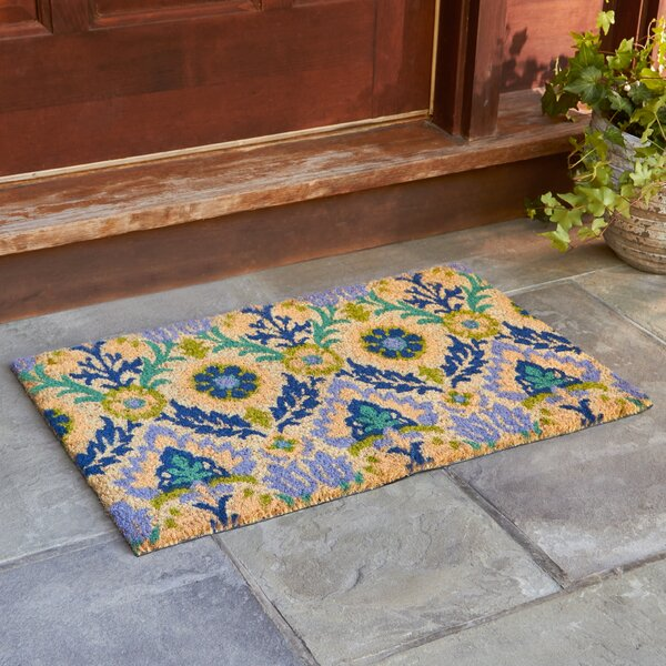 Andres Cobalt Welcome Doormat by Birch Lane™