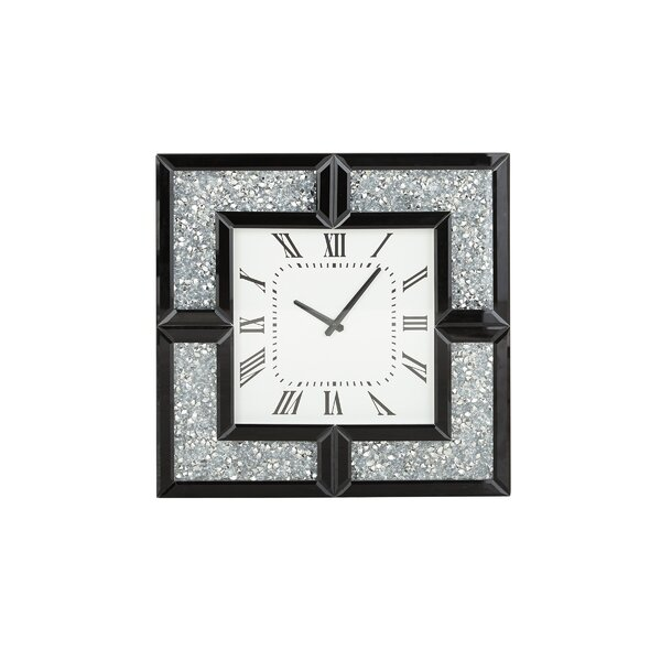 Fanelli Modern Square Wood Analog Wall Clock by Orren Ellis| @ $250.99