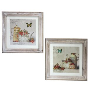 'Butterfly Table Setting' Framed Painting Print by ESSENTIAL DÉCOR & BEYOND, INC