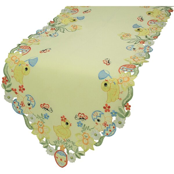 Spring Baby Chicks Table Runner by Xia Home Fashions