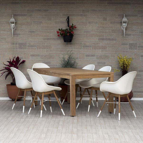 Woolford 7 Piece Teak Dining Set by Corrigan Studio