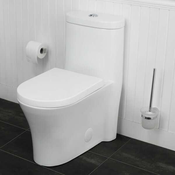 Morar Dual-Flush Elongated One-Piece Toilet by Maykke