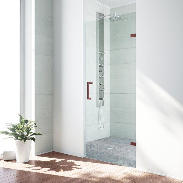SoHo 24.25 x 70.63 Hinged Adjustable Frameless Shower Door by VIGO