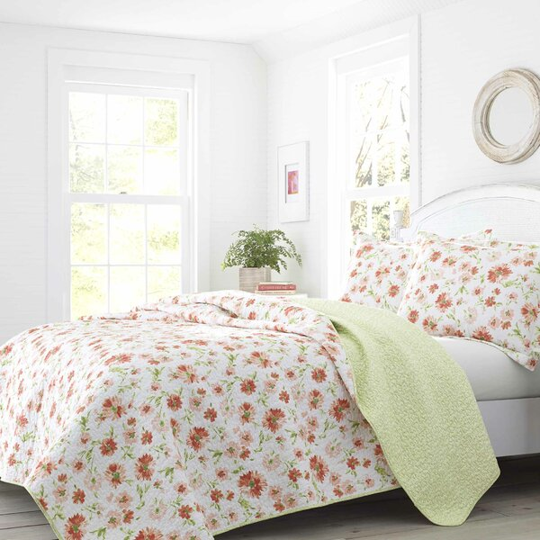 Meadow Dance Cotton Reversible Quilt Set by Laura Ashley Home by Laura Ashley Home
