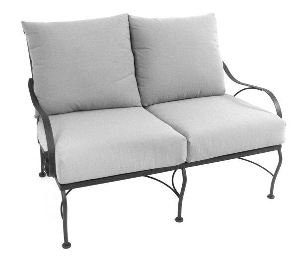 Urrutia Deep Seating Loveseat with Cushion by Fleur De Lis Living