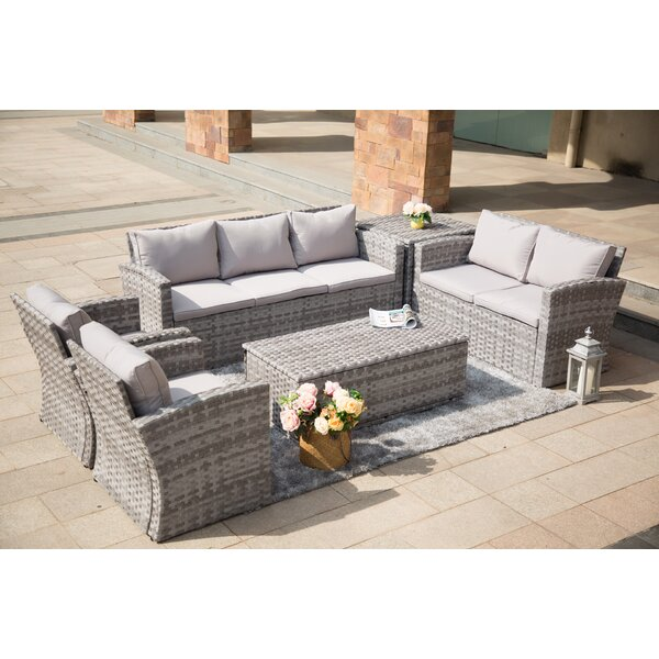 Brooten Outdoor 6 Piece Sofa Seating Group with Cushions by Bungalow Rose