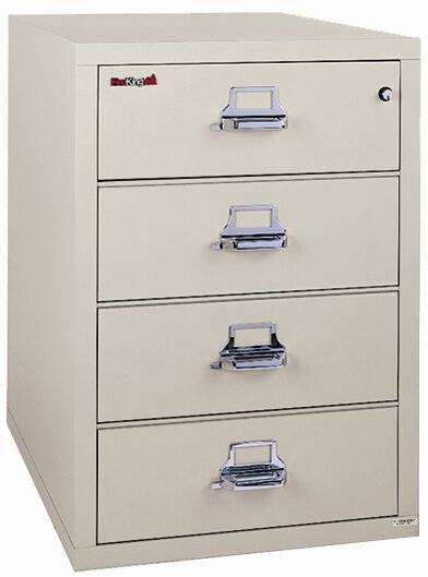 Fireproof 4-Drawer Card, Check, and Note Vertical File Cabinet by FireKing