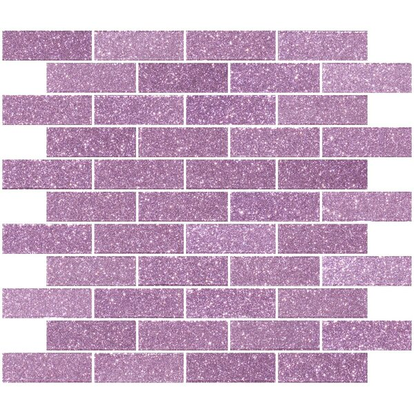 1 x 3 Glass Subway Tile in Barbie Pink by Susan Jablon