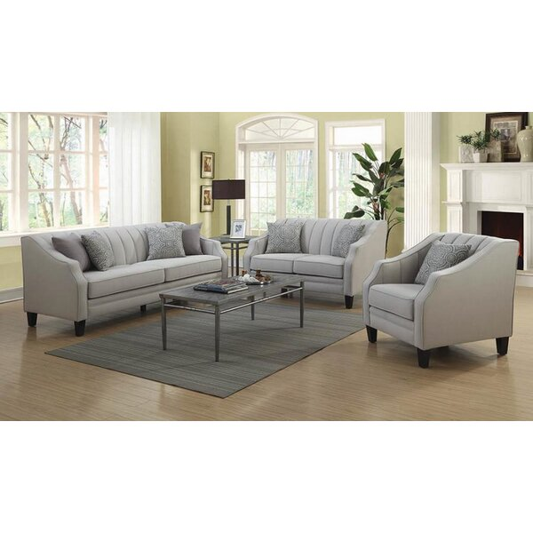 Best #1 Harlan 3 Piece Living Room Set By Rosdorf Park