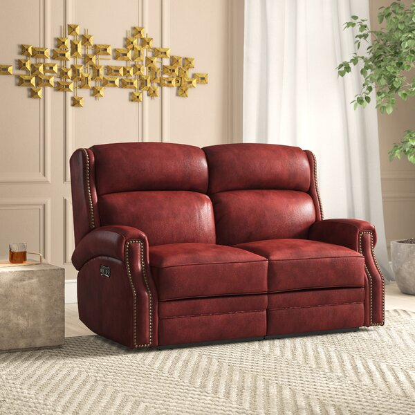 Carlisle Leather Power Motion Loveseat with Power Headrest by Hooker Furniture