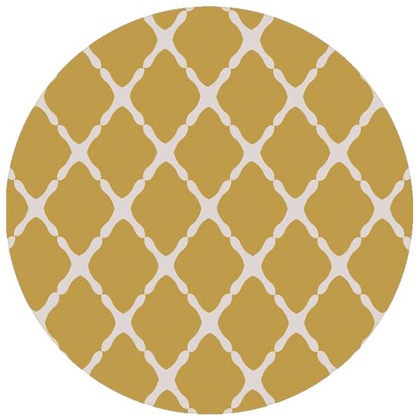 Dixfield Gold Indoor/Outdoor Area Rug by Ebern Designs
