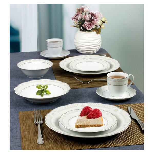Atara Wavy 24 Piece Dinnerware Set Service for 4 by Lorren Home Trends