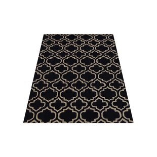 Buying Brazier Hand-Tufted Wool Black/White Area Rug ByHouse of Hampton