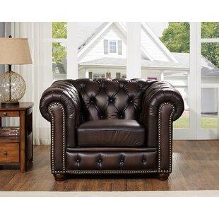 Katharine Top Grain Leather Armchair by Fleur De Lis Living