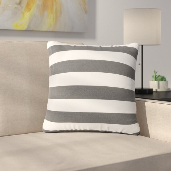 Mayne Square Striped Outdoor Throw Pillow by Ebern Designs