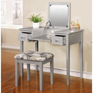 Saw Works Vanity Set with Mirror by Red Barrel Studio