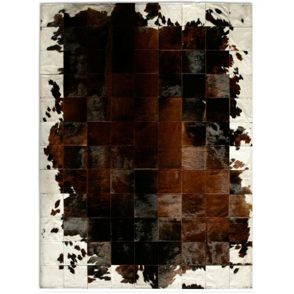 Patchwork Cowhide Park Corbu Brown Area Rug by Pure Rugs