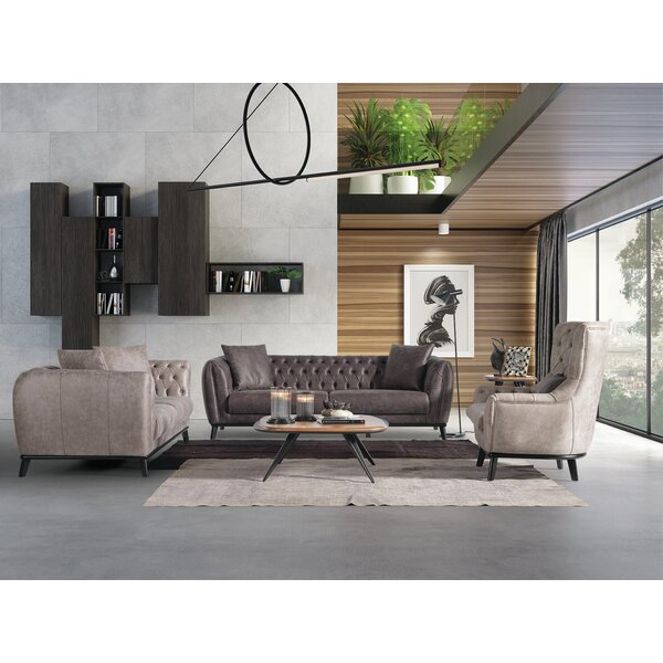 Poindexter 3 Piece Living Room Set By 17 Stories