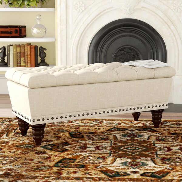 Gwyneth Upholstered Storage Bench by Andover Mills Andover Mills