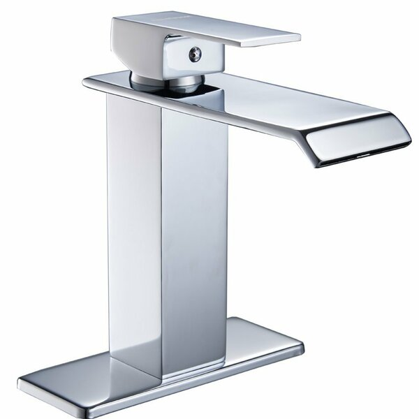 DFI Waterfall Lavatory Sink Single Hole Bathroom Faucet by Aquafaucet