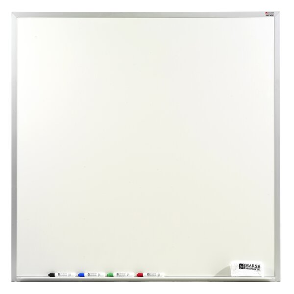 Pro-Lite Wall Mounted Magnetic Whiteboard by Marsh