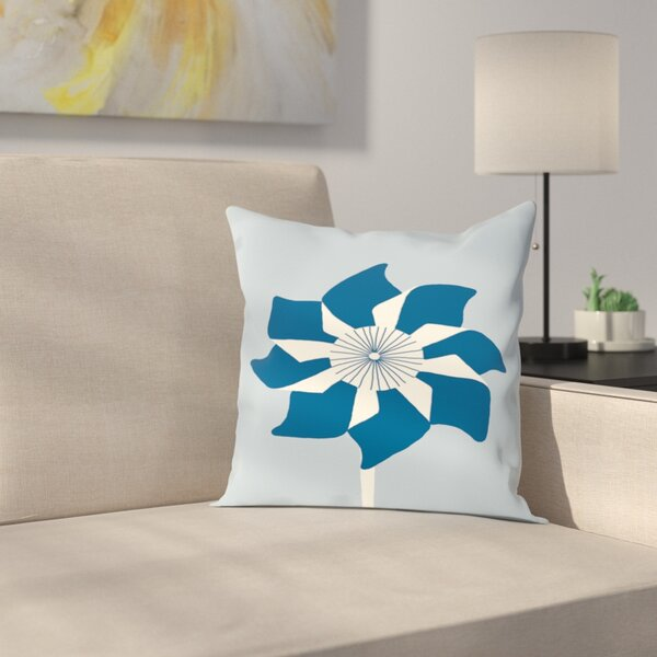 Pinwheel Outdoor Throw Pillow by East Urban Home