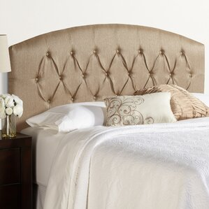 Sherburne Curved Upholstered Headboard with Metal Frames by Three Posts