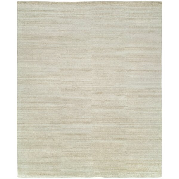 Declan Hand-Knotted Wool Ivory Area Rug by Highland Dunes