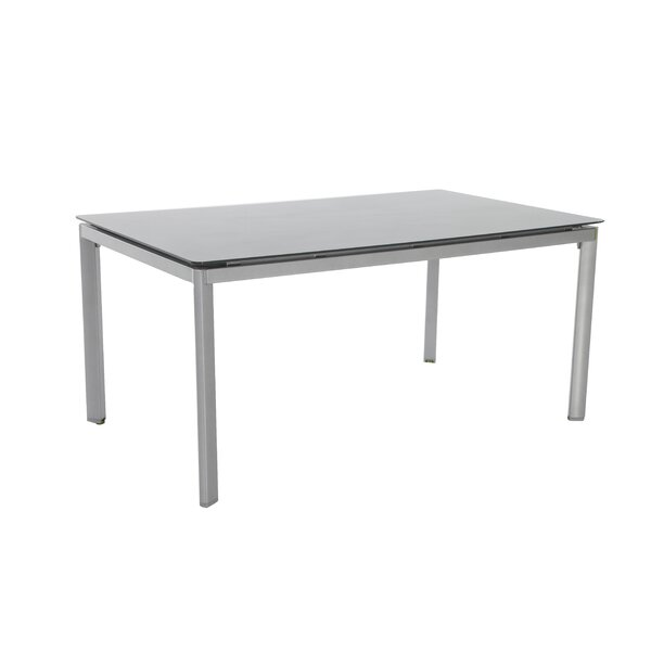 Claire Glass Dining Table by Orren Ellis
