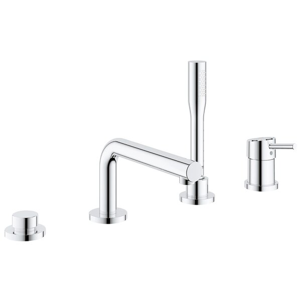 Concetto Single Handle Deck Mounted Roman Tub Faucet Trim with Diverter and Handshower by GROHE GROHE