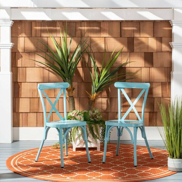 Susy Side Stacking Patio Dining Chair (Set of 2) by Latitude Run