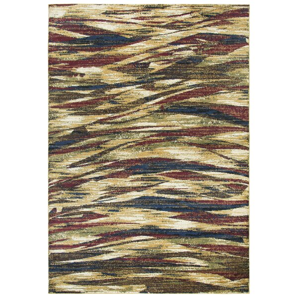 Phillip Gold/Brown Area Rug by Red Barrel Studio