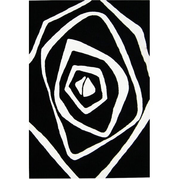 Nortons Hand-Tufted Black/White Area Rug by The Conestoga Trading Co.