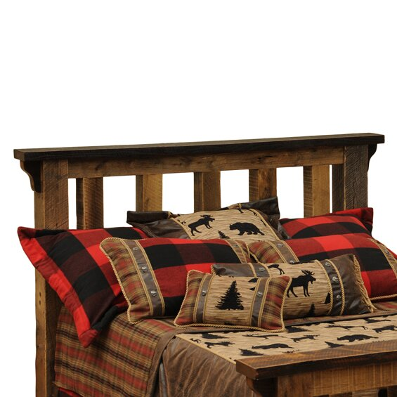 Barnwood Slat Headboard by Fireside Lodge