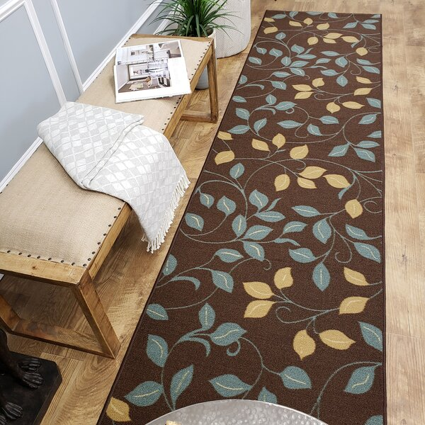 Beauchamp Square Brown Floral Doormat by Andover M