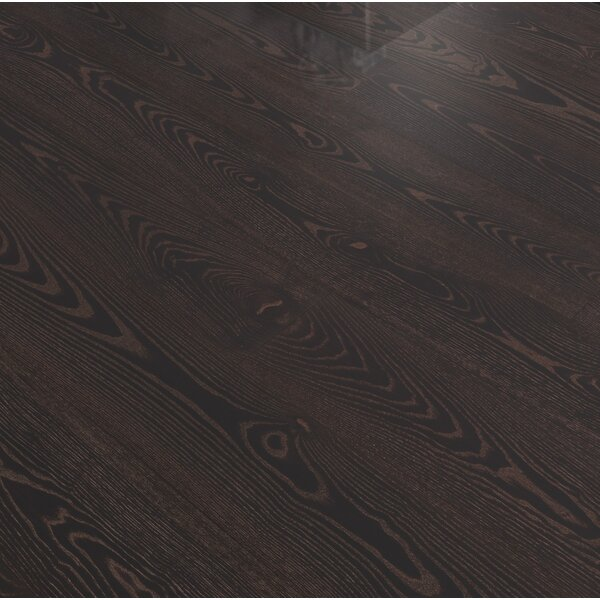 Shine 7-3/8 Engineered Ash Hardwood Flooring in Black Copper by Kahrs