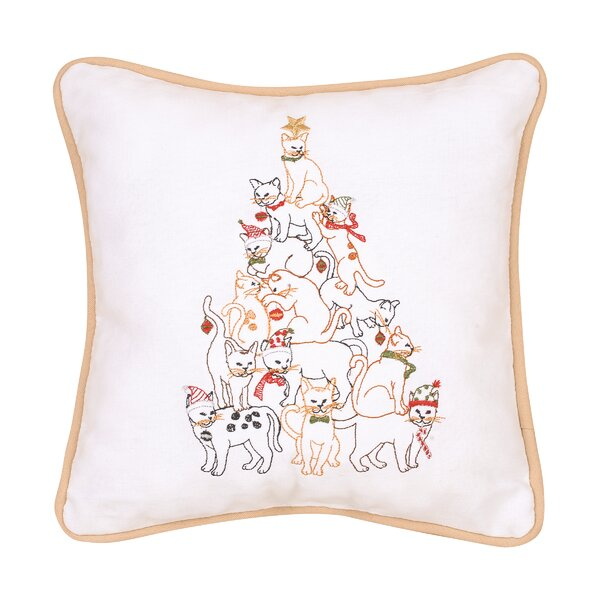 Overly Cat Tree Cotton Throw Pillow by Winston Porter