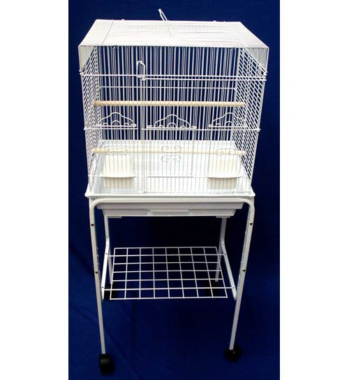 Square Top Small Bird Cage with Stand by YML