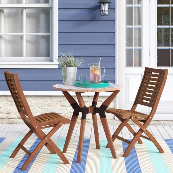 Roseland 3 Piece Dining Set by Beachcrest Home