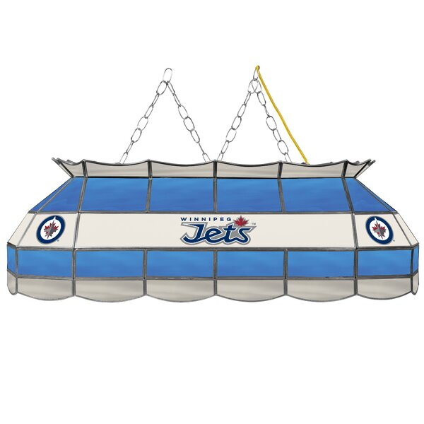 NHL Stained Glass 3-Light Pool Table Light by Trademark Global