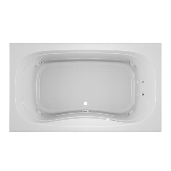 Signa Left-Hand 72 L x 42 W Drop In Whirlpool Bathtub by Jacuzzi®