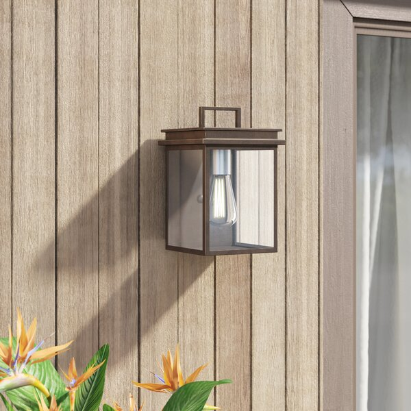Eickhoff Outdoor Wall Lantern by Mercury Row