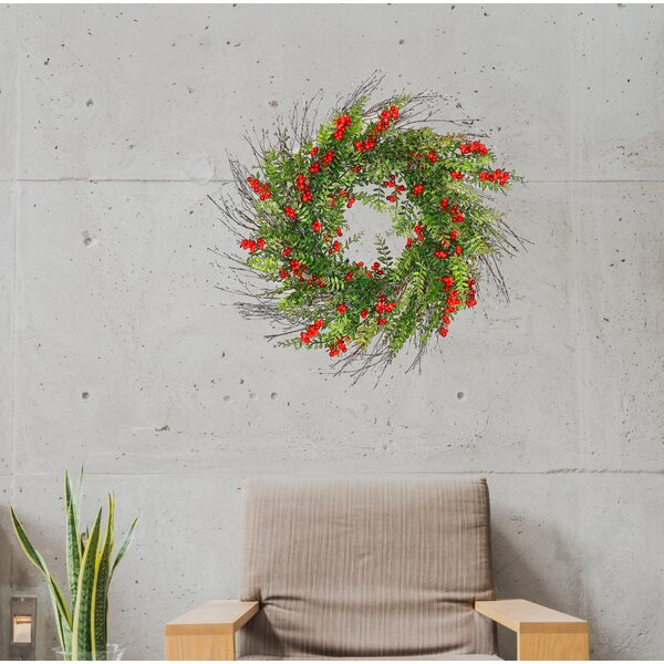 24 Berry and Hawthorn Wreath by Alcott Hill