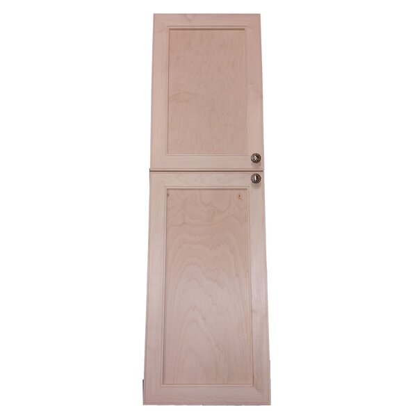Village 15.5 W x 65 H Recessed Cabinet by WG Wood Products