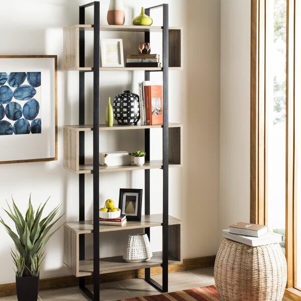 Blonde Geometric Bookcase By 17 Stories