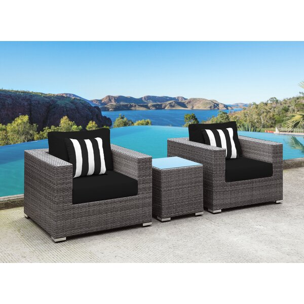 Yeager 3 Piece Conversation Set with Cushion