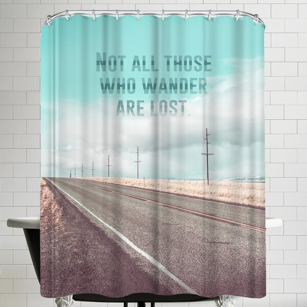 Annie Bailey Those Who Wander Shower Curtain by East Urban Home