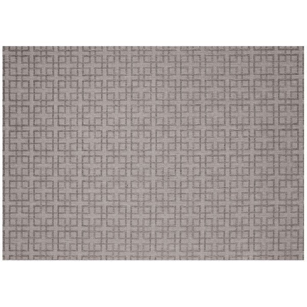 Lattice Silver/Charcoal Outdoor Area Rug by SimplyShade